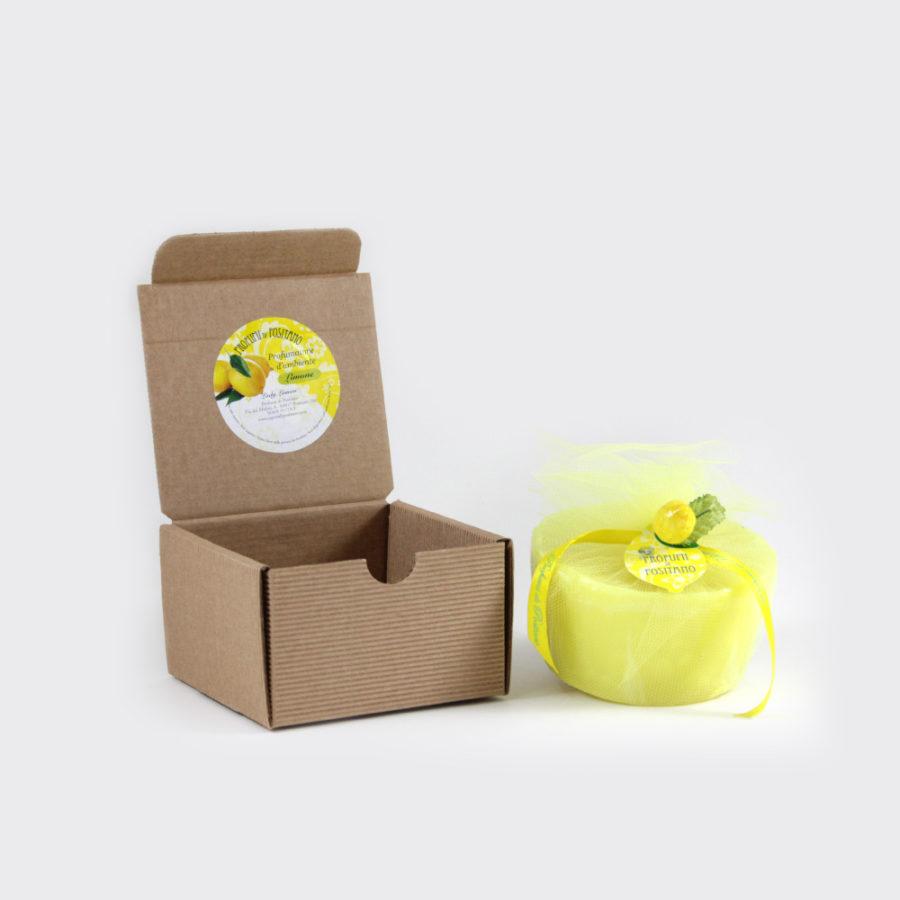 Candela al limone box regalo piccola | Sapori e Profumi di Positano