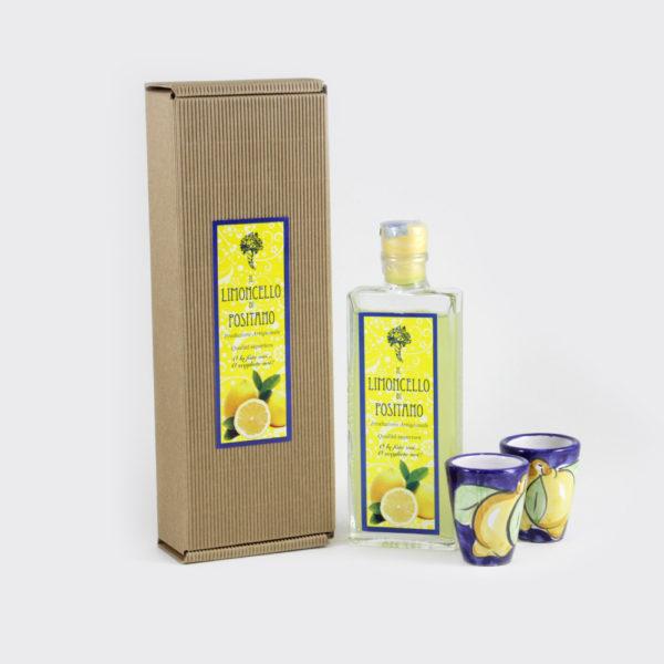 Scatola regalo limoncello con bicchieri | Sapori e Profumi di Positano