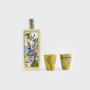 Scatola regalo Limoncello con Piastrella | Sapori e Profumi di Positano
