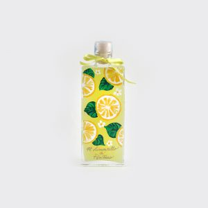 Hancrafted Limoncello with hand-painted bottle