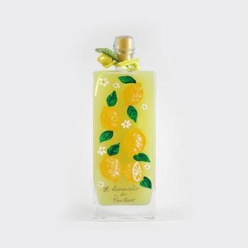 Limoncello artigianale con bottiglia dipinta a mano 50 cl