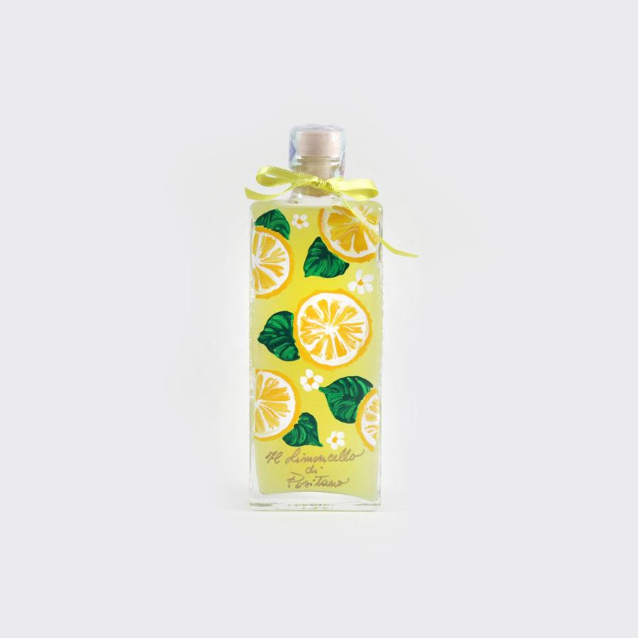 Limoncello artigianale con bottiglia dipinta a mano 20 cl