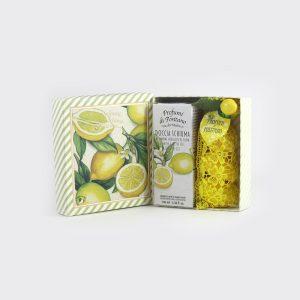 Scatola regalo bagnodoccia e saponi al profumo di limoni di positano