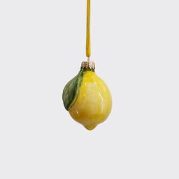 Limone in ceramica dipinto a mano
