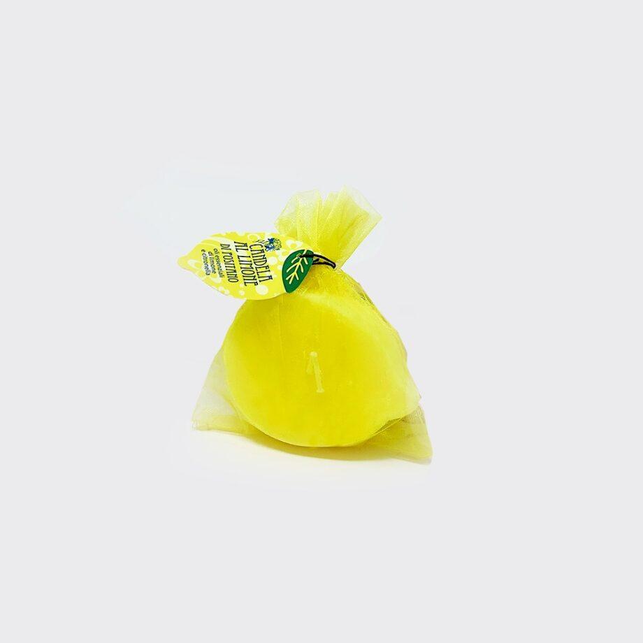 Candela profumata a forma di mezzo limone