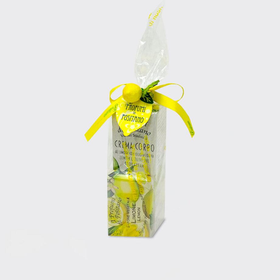 Set Lemon and olive oil body cream and Lemon Soap