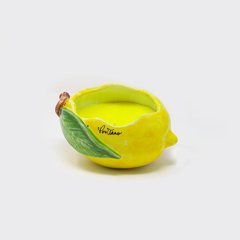 Candela a forma di limone in ceramica   Sapori e Profumi di Positano